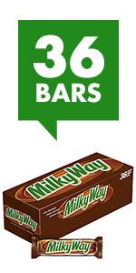 MILKY WAY Milk Chocolate Candy Bars Singles Size