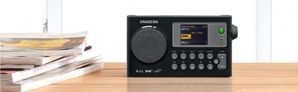 Sangean Wfr 27c Internet Radio Fm Rds Dab Network Music Player Digital Receiver Home Cinema Tv Video