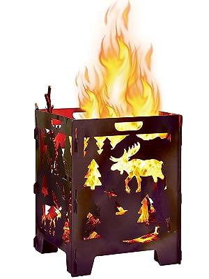heavy duty steel fire incinerator burn cage garden pit pyro box bonfire patio home outdoor campfire