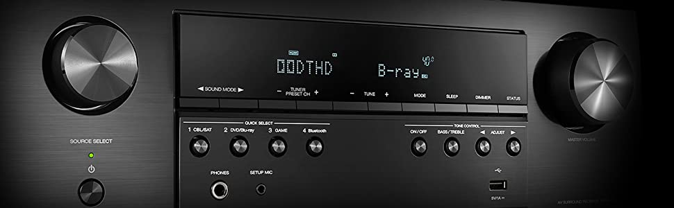 Denon AVR-S540BT Receiver, 5 2 channel, 4K Ultra HD Audio and Video, Home  Theater System, built-in Bluetooth and USB port, Compatible with HEOS Link