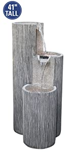 Alpine Mirror Waterfall With Decorative Stones And Light Silver  from m.media-amazon.com