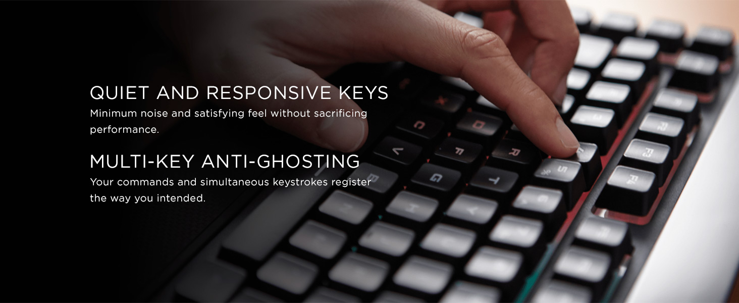 Corsair K55 RGB Membrane Gaming Keyboard - Black