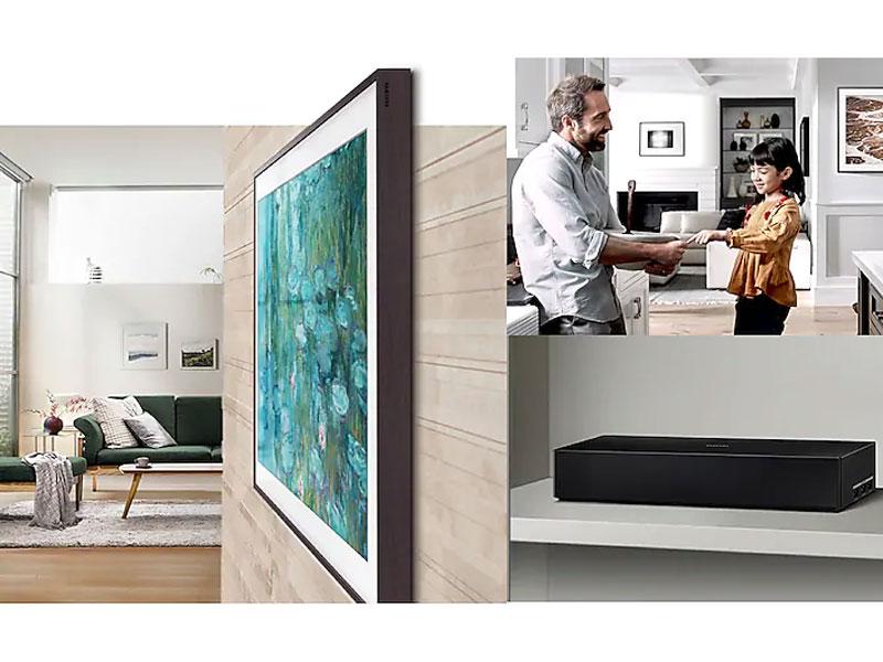 Amazon Com Samsung 65 Class The Frame Qled Smart 4k Uhd Tv 2019 Works With Alexa Electronics