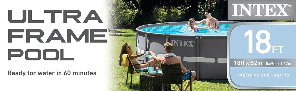 Amazon.com : Intex 18ft X 52in Ultra Frame Pool Set Sand Filter Pump ...