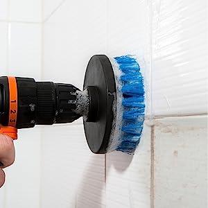revoclean, revo clean, drillbrush, drill brush, power drill, power drill attachment, tile, grout