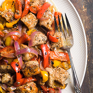 Sweet Peppers and Pork with Sage and Honey