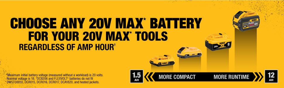 20v dewalt tool batteries