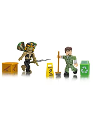 Roblox Celebrity Collection Nefertiti The Sun Queen Welcome To Bloxburg Glen The Janitor Two Figure Pack -