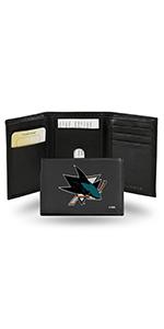 wallet,mens wallet,wallet for women,wallet for men,leather wallet,NHL,Sharks, San Jose Sharks