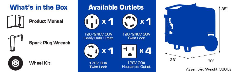 Duromax XP15000E Home Backup Outdoor Life Portable Generator