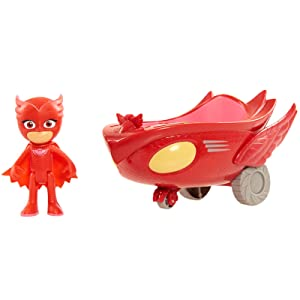 owlette and owlglider, owlette and car, red car, red plane, owlet