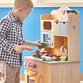 teamson kids teamson design corp play kitchen boys girls wooden
