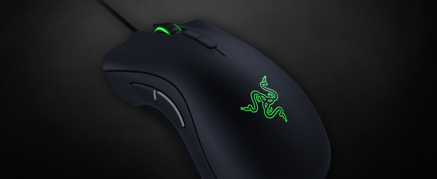 Razer DeathAdder Elite Gaming Mouse: 16,000 DPI Optical Sensor - Chroma RGB  Lighting - 7 Programmable Buttons - Mechanical Switches - Rubber Side