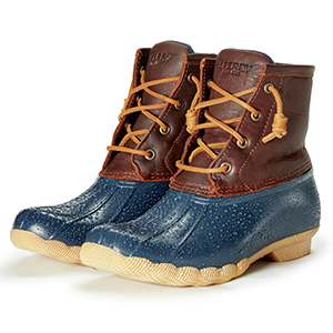 Sperry Womens Saltwater Boots, Tan/Navy