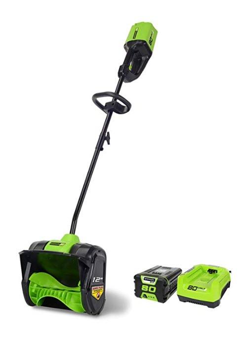 greenworks corded snow thrower blower shovel