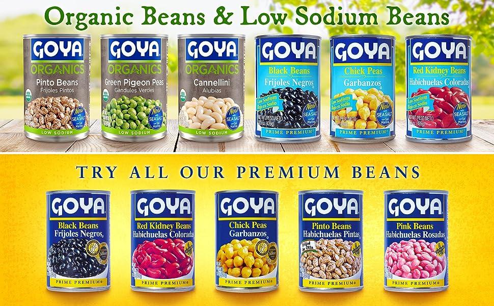 goya canned beans organic beans low sodium beans