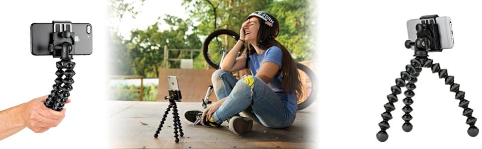 joby, gorillapod, flexible tripod, iphone tripod, smartphone tripod, iphone 8, iphone 8 plus, tripod