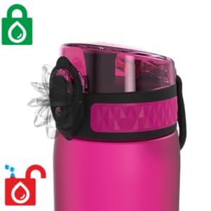 Auslaufsichere Wasserflasche + Sicherheitsschloss