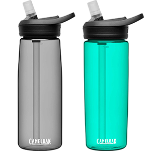 plastic water bottle, reusable bottle, bottle with straw, eddy water bottle, camelbak eddy, camelbak