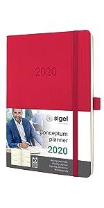 SIGEL C2004 Agenda profesional 2020 Conceptum, tapa dura, 22 ...