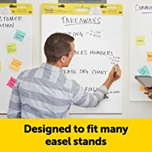 Designed to fit many easel stands