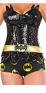 sequin corset top and boy shorts