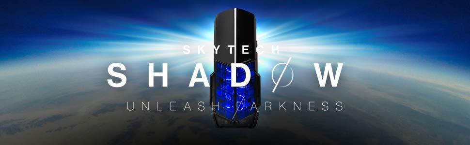 [Ryzen & GTX 1060 Edition] SkyTech Shadow Gaming Computer Desktop PC Ryzen  1200 3 1GHz Quad-Core, GTX 1060 3GB, 8GB DDR4 2400, 1TB HDD, 24X DVD, Wi-Fi