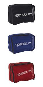 Speedo(スピード) プールバッグ 水泳 トラベルポーチ ナイロン/メッシュ SD96B13 ブルー BL