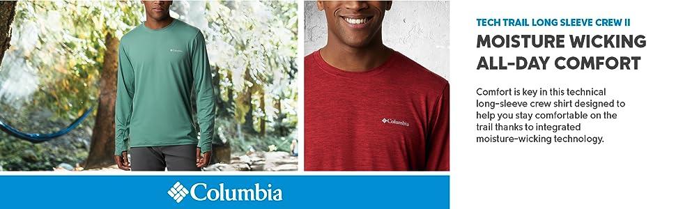 Columbia Men's Tech Trail Long Sleeve Crew II Shirt