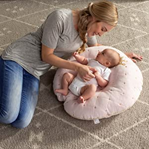 boppy, newborn lounger, perfect nest, cradle, baby, infant, shower, gift, soft, minky, mom fave