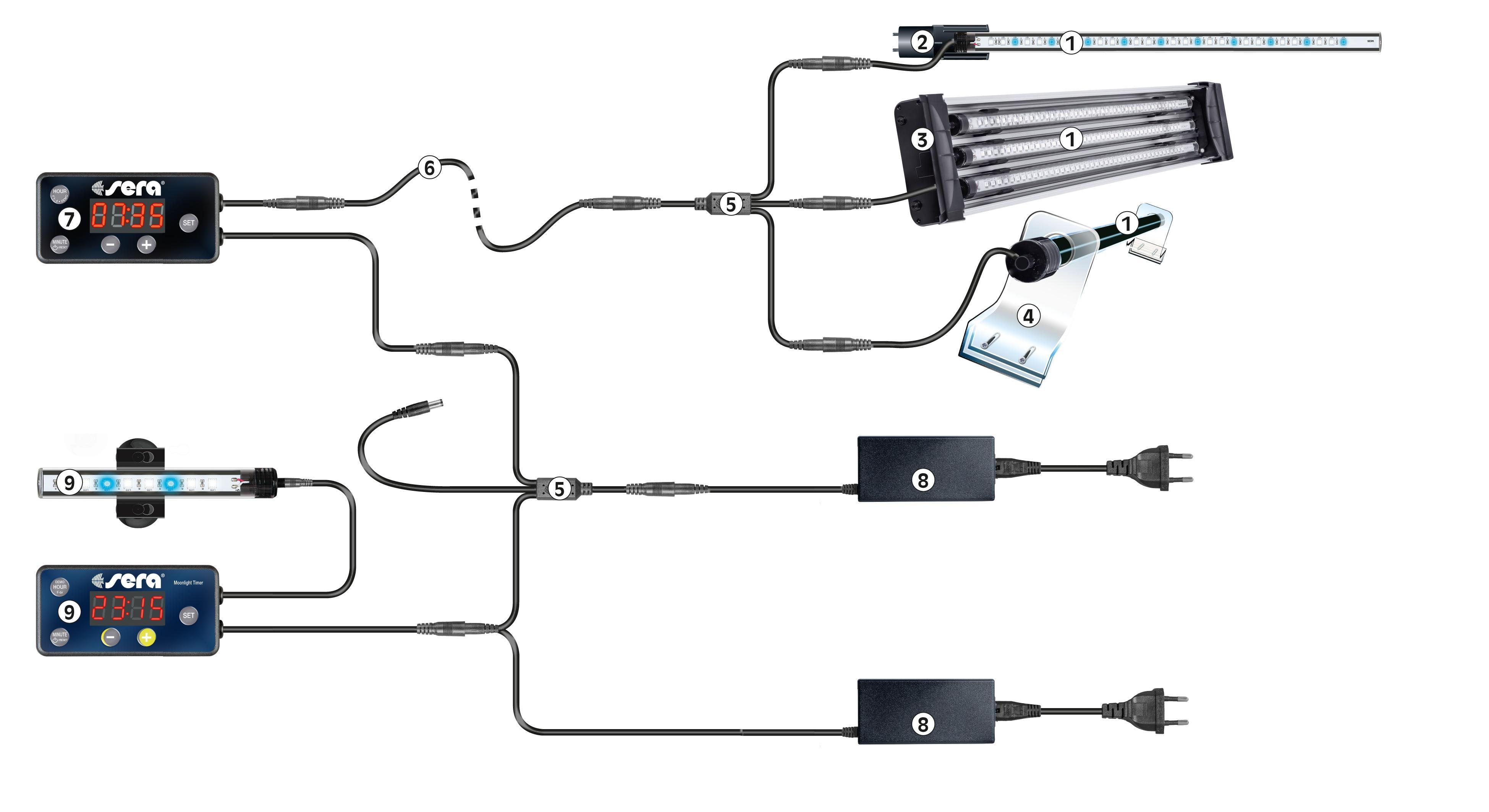 Beleuchtung & Abdeckungen UnabhäNgig Sera Led Tube Holder Clear Acrylglashalterung Für X-change Tubes