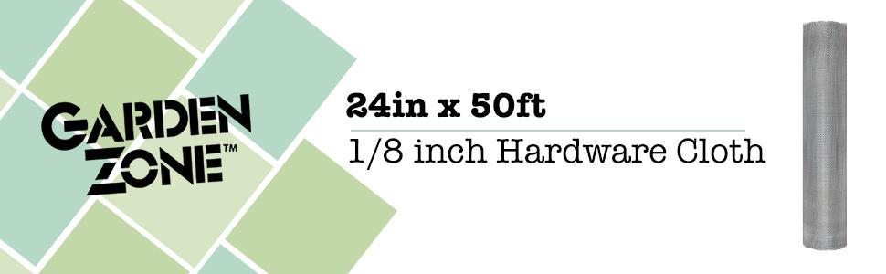 W x 10 ft Garden Zone  36 in L Silver  Steel  Hardware Cloth