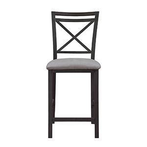 Surprising Dorel Living Devon Crossback Counter Height Dining Chair Black Coffee Gray Pdpeps Interior Chair Design Pdpepsorg