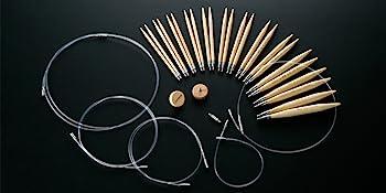 combo interchangeable knitting needles cords stoppers bamboo takumi clover needlecraft