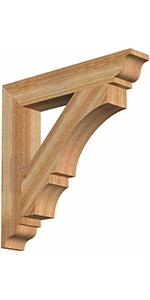 wood bracket, cedar bracket, exterior bracket