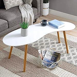 scandinavian coffee table white