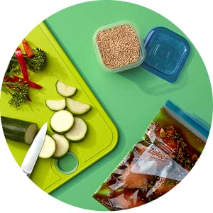 Ziploc Freezer Bags - IT'S A PERFECTLY PORTIONED DINNER