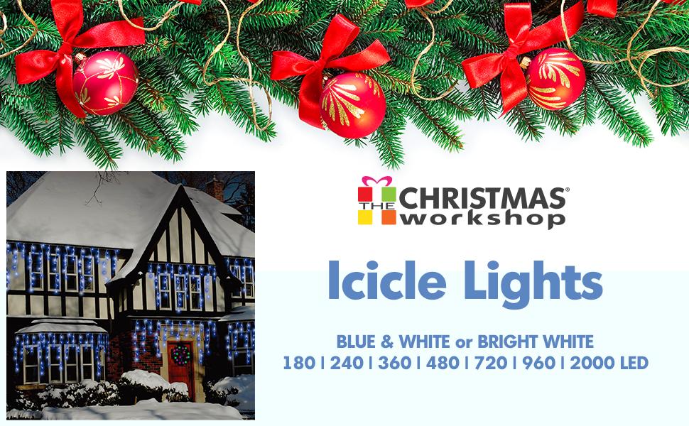 Christmas Workshop 77520 480 Icicle LED Outdoor Christmas Lights ...