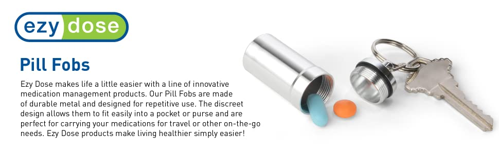 ezy dose pill fobs on the go travel convenient small pill vitamin medication
