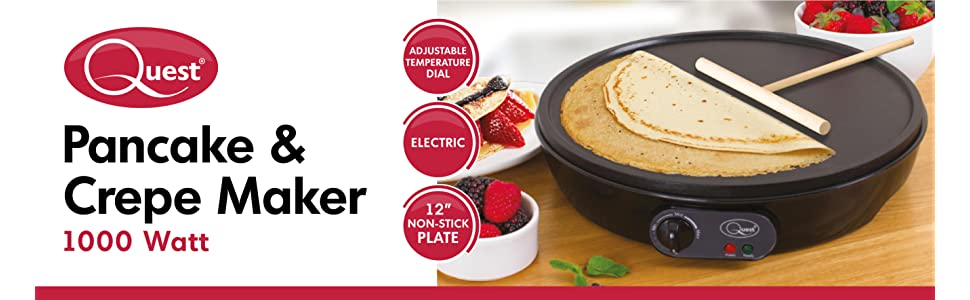 Quest 35540 benross electric pancake crepe maker with spreader 1000 quest 35540 pancake maker header ccuart Images