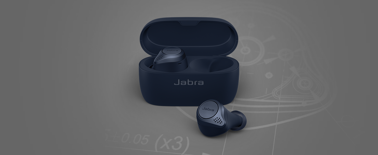 Jabra Elite Active 75t true wireless earbuds for running & exercise.