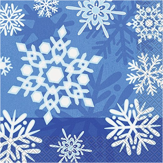 Winter Snowflake Holiday Oval Paper Plates 8ct · Winter Snowflake Holiday Dinner Plates 8ct · Winter Snowflake Holiday Dessert Plates 8ct ...  sc 1 st  Amazon.com & Amazon.com: Winter Snowflake Holiday Paper Guest Napkins 16ct ...