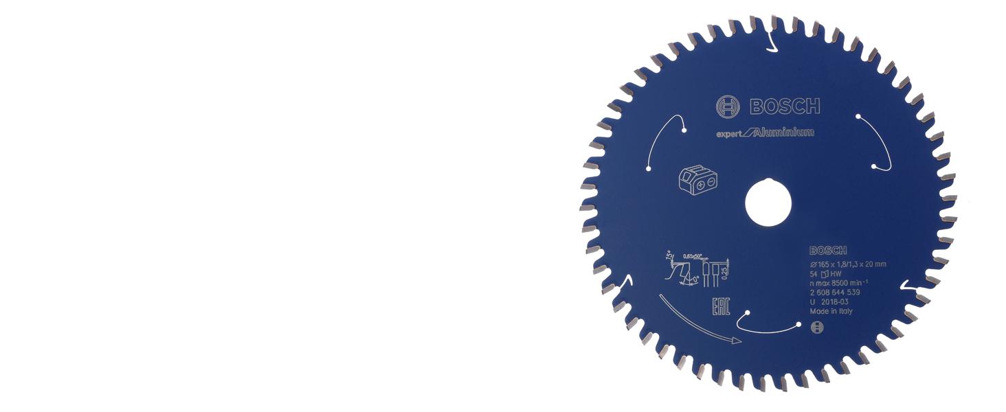 bosch professional, expert for aluminium, aluminium, cirkelsågklinga, sladdlös cirkelsåg