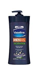 Vaseline Men Healing Moisture Body Lotion Fast Absorbing