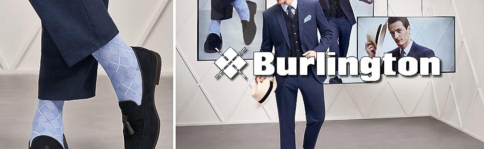 Burlington - Calze da uomo e da donna, motivo a rombi