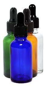 Assorted Colors 1 oz dropper bottles