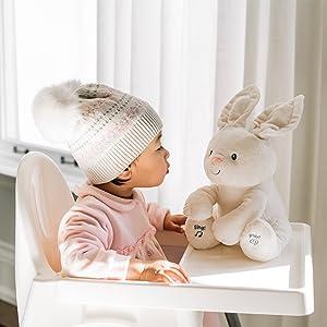 flora bunny play peek a boo infant girl plush stuffed animal gund baby