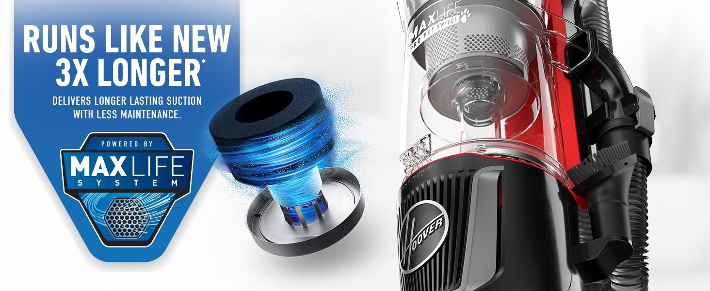 hoover upright vacuum cleaner for pets bagless pet hepa filter filtration home carpet hard floor