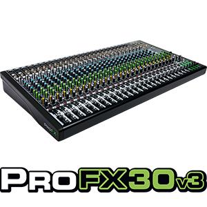 Mackie, ProFX30v3, Mixer, Recording, USB, Effects