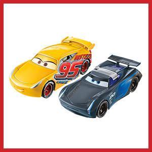 Disney Cars FCX95 Cars 3 Flip to the Finish Rust-eze Cruz Ramirez and Jackson Storm Vehicles